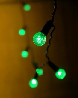 String Globe Lights LED in Green Battery Operated