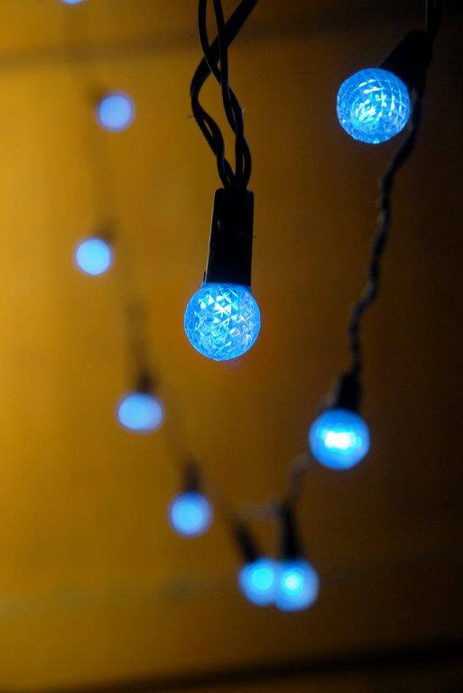 How To Make String Lights Battery Powered : Blue LED String Lights Battery Operated