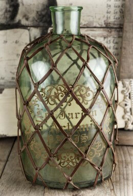 Decorative Netted Glass Bottle