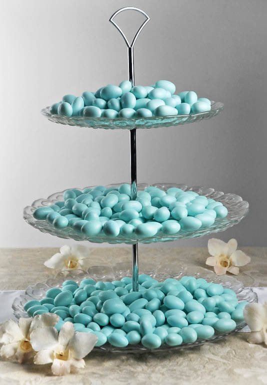 3 Tier Glass Serving Tray 15in