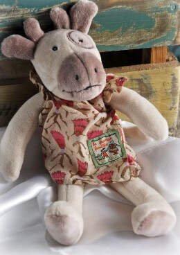 Moulin Roty Stuffed Toy Tiny Charlotte Cow