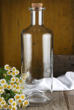 Clear Glass Bottle with Cork