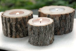 Rustic Tree Branch Candle Holder | 2in