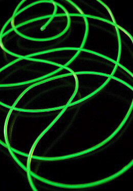 El Wire Lights Power Green | 2.6mm | 9 Ft