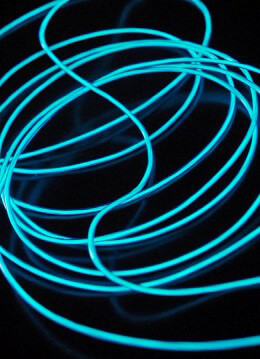 El Wire Lights Dark Blue | 2.6mm | 12 Ft