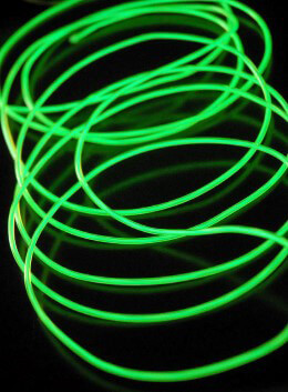 El Wire Lights Power Green | 2.6mm | 12 Ft