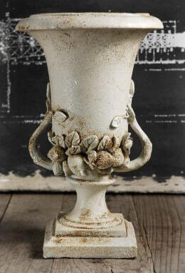 Urn Planter Resin Cream 12in