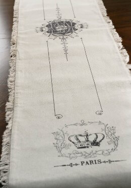 Frayed Parisian Table Runner 74in