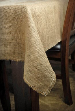 Burlap Square Tablecloth 72in