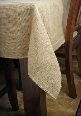 Burlap Square Tablecloth 64in