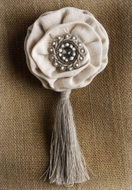 Magnetic Linen Flower