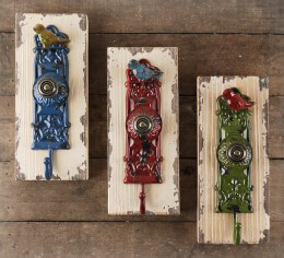 Vintage Wall Coat Hook Set