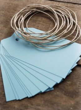 Baby Blue Chalkboard Tags w/String (pack of 10)