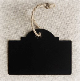 Black Chalkboard Tags w/Twine (Pack of 20)
