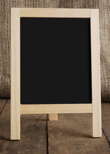 Table Top Chalkboard Easel 8 5 X 6