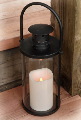 Hanging Black Hurricane Lantern