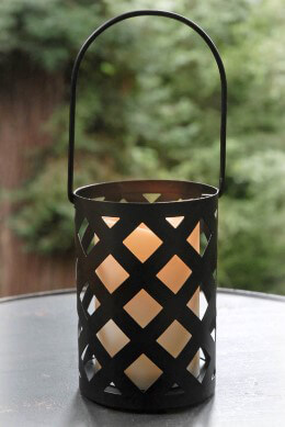 Hanging Black Criss Cross Lantern