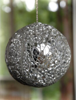 "Mosaic Mirror Balls 3.5"" Wide"