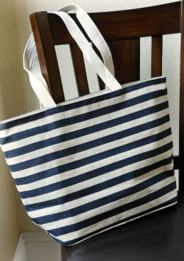Striped Jute Beach Bag