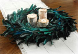 Peacock Feather Wreath 18in