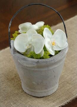 Gray Bucket Vase