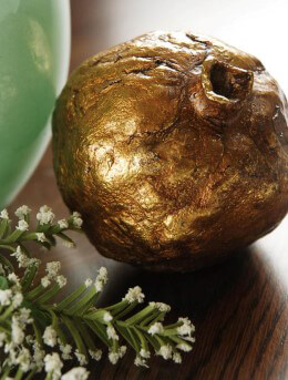 Antique Gold Decorative Pomegranate