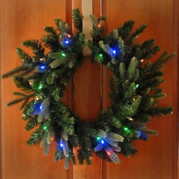 Cordless Pre-Lit LED Christmas Wreath