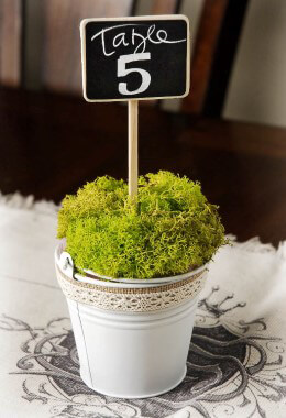 Chalkboard Table Numbers (Set of 5)