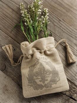 Fleur De Lys Linen Gift Bag