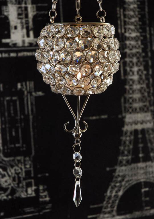 Crystal Chandelier Candle Holder: Hanging Crystal Candle Holder 22.5in,Lighting