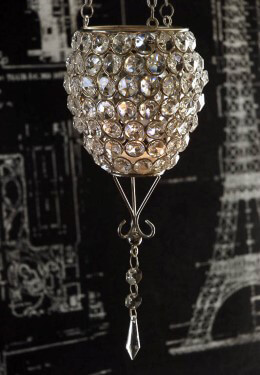 Hanging Crystal Candle Holder 23.5in