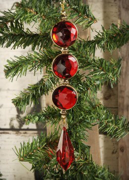Red Rhinestone Ornament