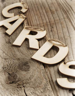 "Rustic Wood ""CARDS"" Banner 2FT"