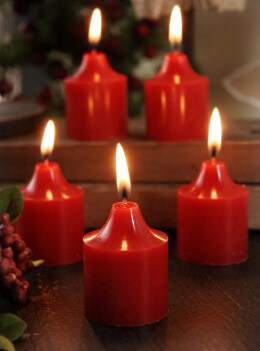 Scented Red Votive Candles 12pc