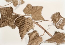 Burlap Ivy Leaf Spray