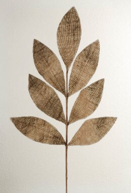 Burlap Magnolia Leaf Spray