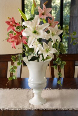 White Glass Urn Vase