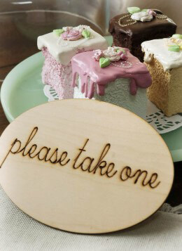 PLEASE TAKE ONE Wood Sign