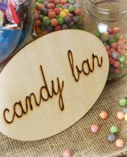 """Candy Bar"" Wood Sign"