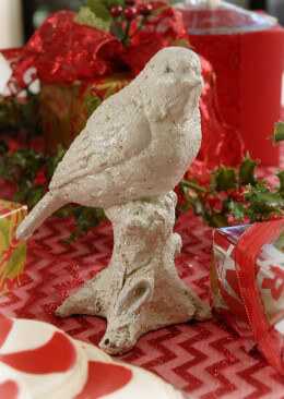 Antique White Bird Figurine