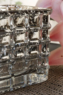 "Mercury Glass4-3/4""  Cube Vase & Candle Holders"