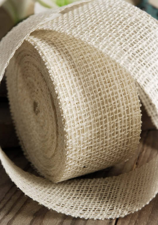 White burlap ribbon 2in x 10yds for Save on crafts burlap