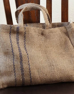 Large Natural Burlap 16 x 12 Tote Bag