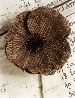 Burlap Poppy Pick Brown