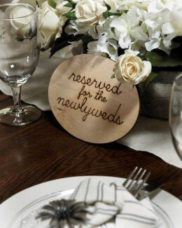"Wood Sign - ""Reserved For The Newlyweds"""
