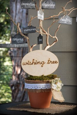 "Wood Sign - ""Wishing Tree"""