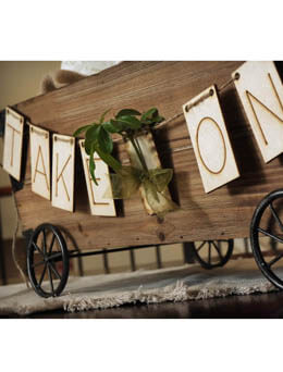 "Wood Letter Banner - ""TAKE ONE"" , Wedding Signage"