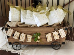 """Wood Letter Banner - """"TAKE ONE"""""""