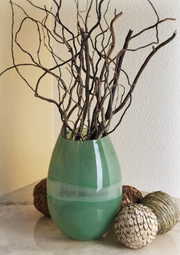 Green Broad Stripe Vase