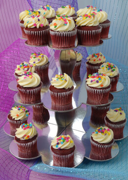 Cupcake Stand Silver 3-Tier